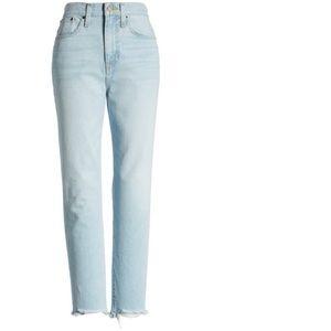 Something Navy Cigarette Raw Hem Ankle Jeans